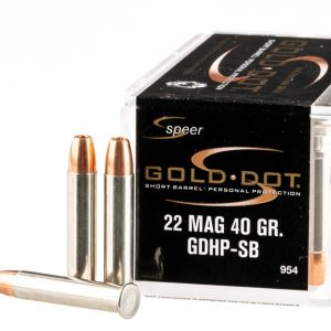 .22 WMR Ammo by Speer GoldDot