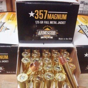 .357 magnum FMJ 125 grain bras ammo